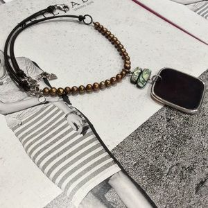 Silpada Black Pen Shell Necklace